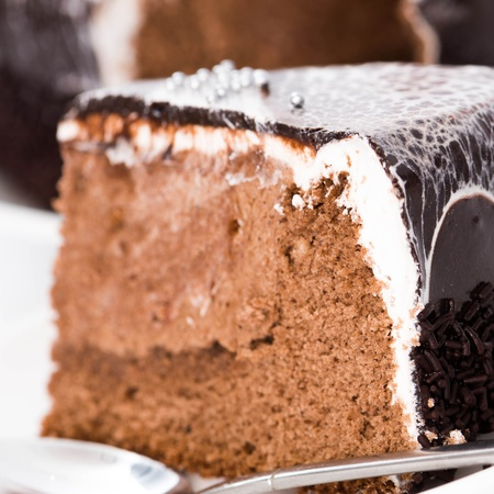 sweet cake ower white photo