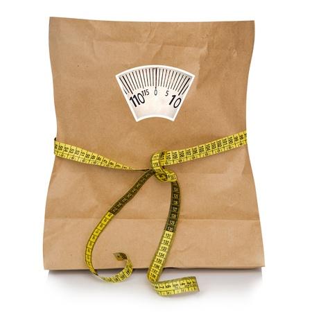테이프 측정 빈 종이 가방