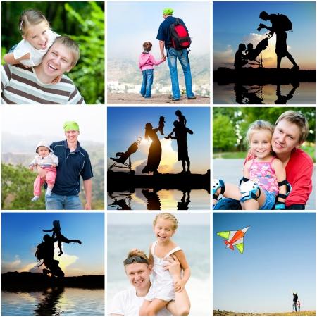Collage aus Fotos der Familie Sommerurlaub