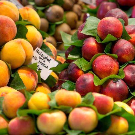 boqueria: sweet fruits at Boqueria Market in Spain