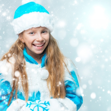 cute little girl in suit Snow Maiden photo