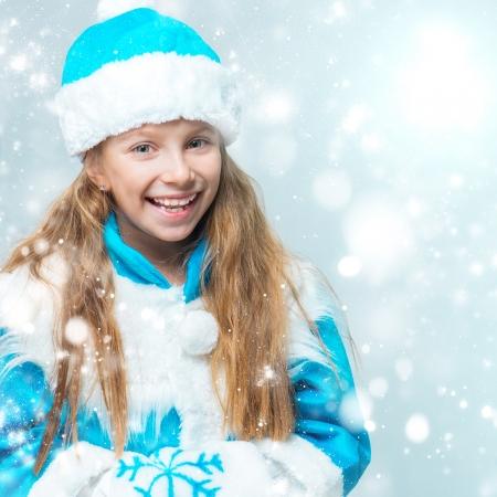 snow maiden: cute little girl in suit Snow Maiden