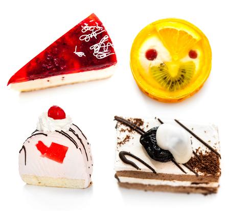 stodio: Sweet cake on white background Stock Photo
