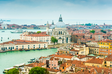 Canal Grande with Basilica di Santa Maria della Salute in Venice, Italy photo