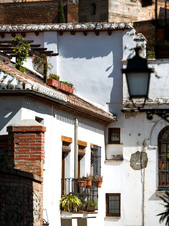 Town of white houses, typical Spanish architecture  Granada photo