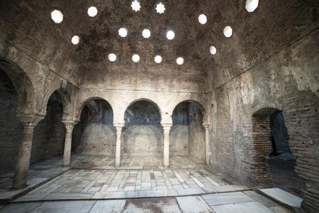 granada: 11th century Arab Baths in Granada, Spain
