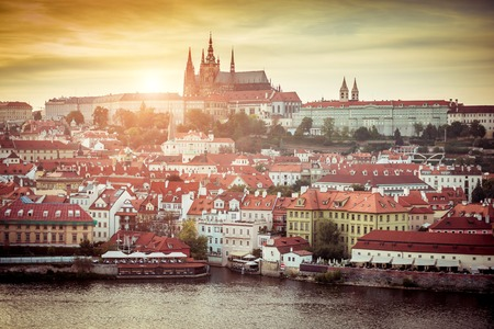 Prague Castle at sunset - Czech republic photo