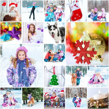 winter photos: collage of photos on a winter theme