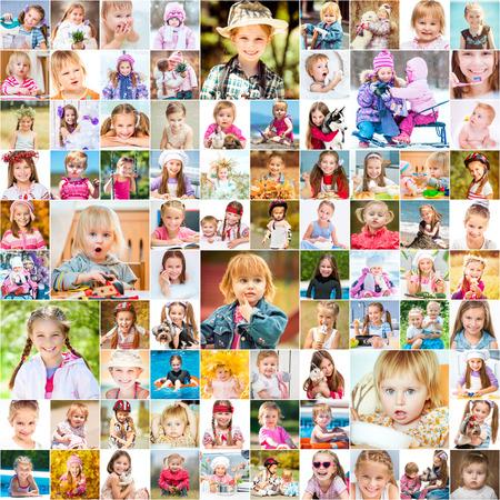 collage caras: Un año en la vida de dos jóvenes hermanas.