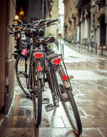 gotico: Antiguas calles del Barrio Gótico de Barcelona, ??España