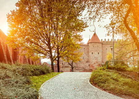 castle conditioning: Warsaw Barbican. Poland Stock Photo