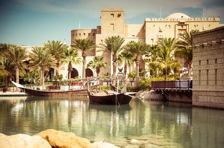 aqua park: Dubai, park with the lake and the boat