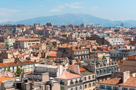 monte cristo: the amazing areal view on Marseille, France Stock Photo