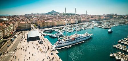 マルセイユの古い海港。フランス 写真素材