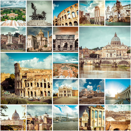 Collage of photos from Rome. Italy photo