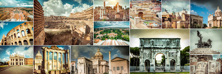 constantine: Collage of photos from Rome. Italy