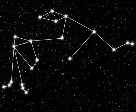 abstract aquarius: constellation Aquarius against the starry sky