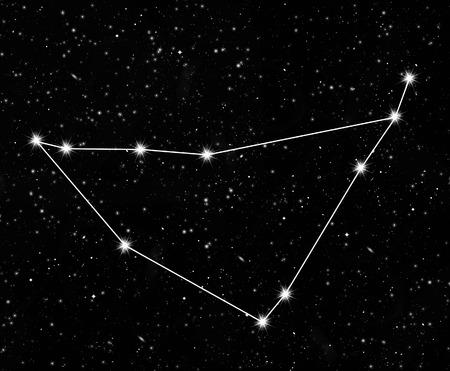capricornus: constellation Capricornus against the starry sky