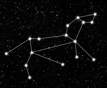 constellation Leo against the starry sky Stock Photo
