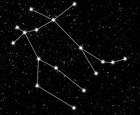 constellation Gemini against the starry sky photo