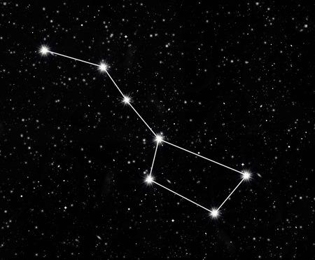 Sterrenbeeld Grote Beer tegen de sterrenhemel Stockfoto - 38492361
