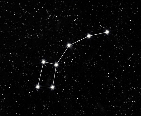 constellation little Dipper against the starry sky Stock Photo