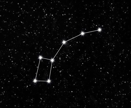 Costellazione poco Dipper contro il cielo stellato Archivio Fotografico - 38492362