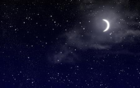 별과 보름달 밤 하늘 스톡 콘텐츠 - 38492363