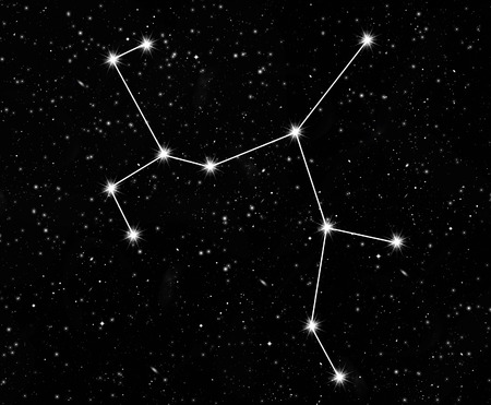 starfield: constellation Sagittarius against the starry sky