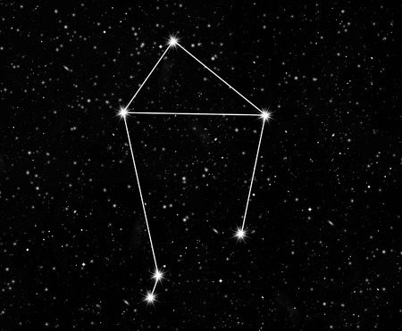 starfield: constellation scales against the starry sky