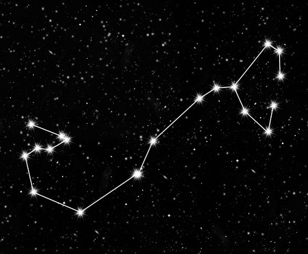pleiades: constellation Scorpius against the starry sky