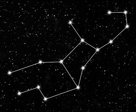 constellation Virgo against the starry sky photo