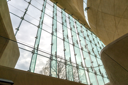 jews: WARSAW, POLAND - MARCH 8: Museum of the History of Polish Jews, built in years 2009-2013, documents the millennial tradition of Jews in Poland in Warsaw Poland onMarch 8, 2015 Editorial