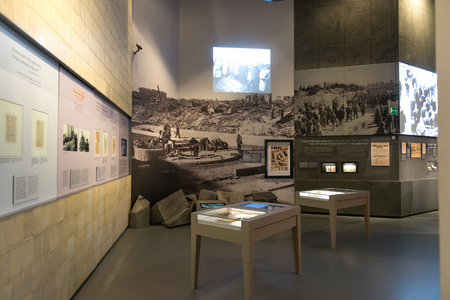 millennial: WARSAW, POLAND - MARCH 8: Museum of the History of Polish Jews, built in years 2009-2013, documents the millennial tradition of Jews in Poland in Warsaw Poland onMarch 8, 2015 Editorial