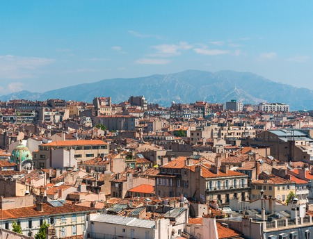 the amazing areal view on Marseille, France Stock Photo