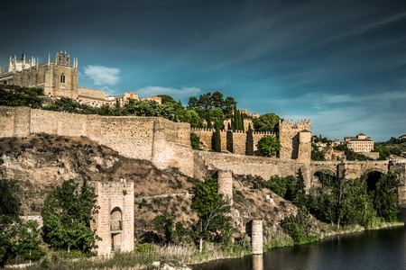 toledo town: Toledo over sunset. medieval town in Spain Editorial