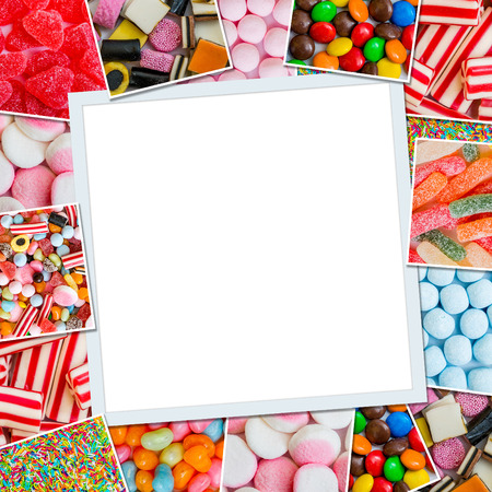 jellies: Frame photos of candies and jellies