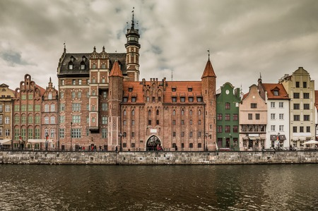 gdansk: views of the waterfront in  Gdansk. Poland
