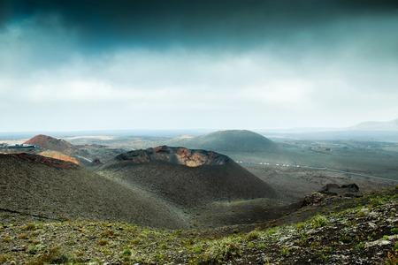 lanzarote: volcano and lava desert. Lanzarote, Canary islands