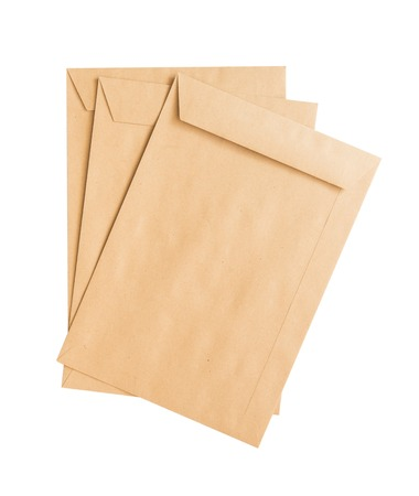envelope: Brown Envelope  on white background