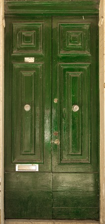 olden day: Traditional exterior door in Malta. The historic center of Valletta Stock Photo