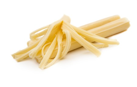 string cheese isolated on white