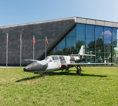 often: KRAKOW MUSEUM OF AVIATION, POLAND - JUL,  2015:  Exhibition plane in the aviation Museum in Krakow, Poland on July, 2, 2015. In summer often airshows take place here. Editorial