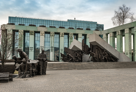 uprising: WARSAW, POLAND - MARCH 8 : Monument to Polish fighters uprising in Warsaw Poland on March 8, 2015