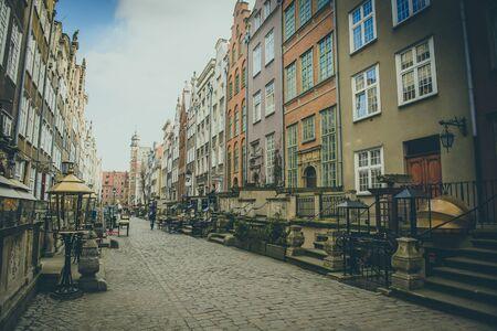 street market: Long Market street in GdanskGdansk. Old Town Stock Photo