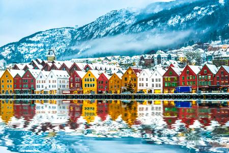 Ansicht über Brügge. Bergen Norwegen