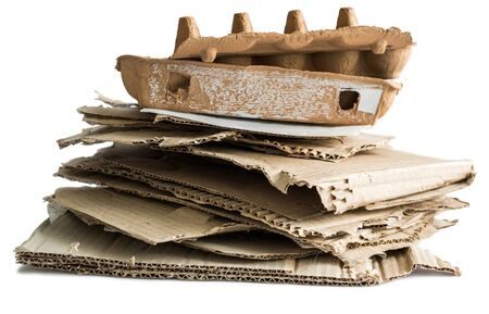 wastepaper: wastepaper heap isolated on white background
