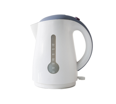 electric kettle: Close-up of an electric kettle on a white background Stock Photo