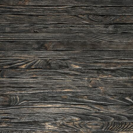 text space: dark wooden planks background as a text space