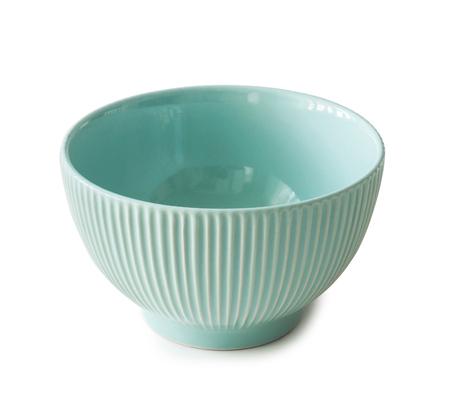 ribbed: new ceramin empty bowl isolated on white background